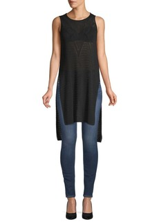 BCBG Max Azria Cotton Pointelle Tunic