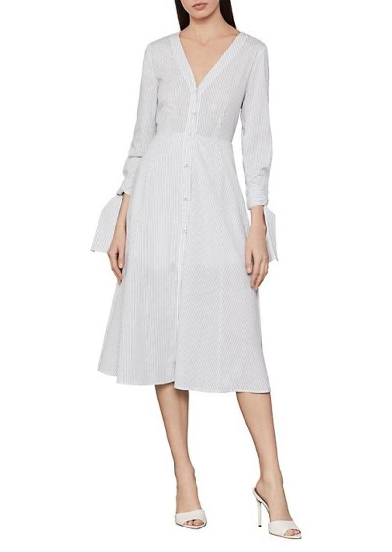 BCBG Max Azria Cotton Stripe Shirt Dress