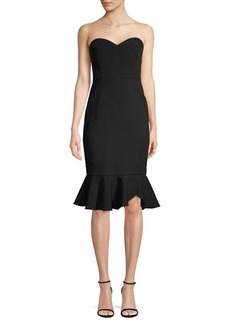 BCBG Max Azria Crepe Strapless Hourglass Dress