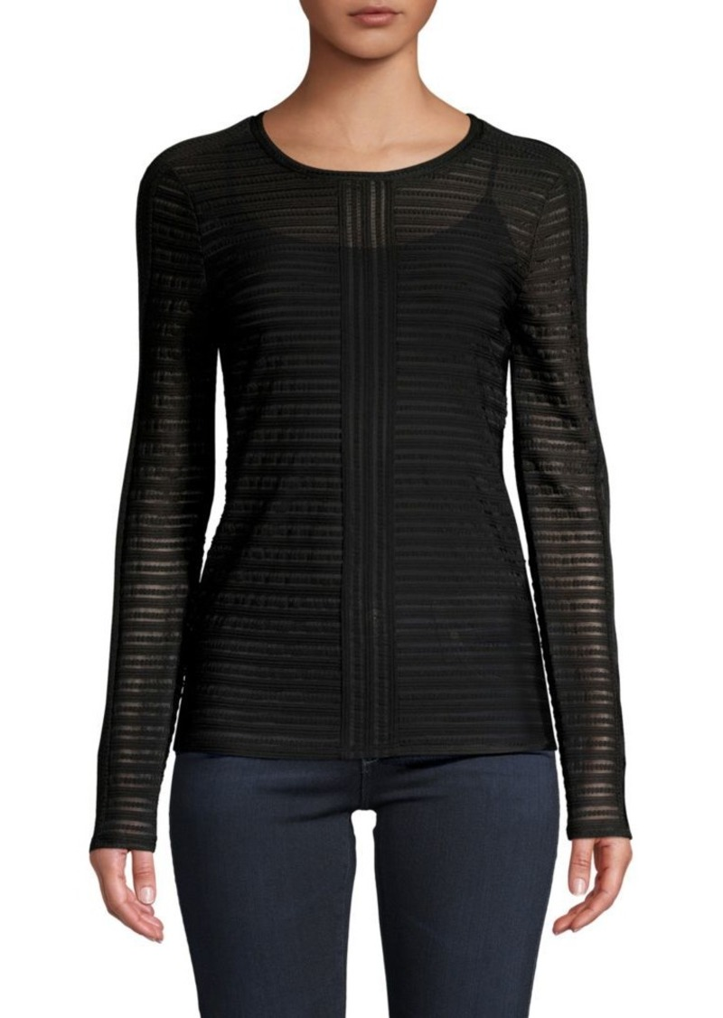BCBG Max Azria Crewneck Knitted Top