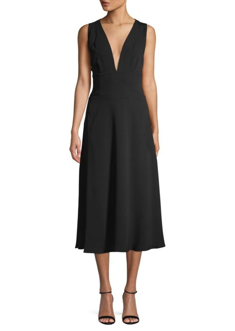 BCBG Max Azria Crisscross Self-Tie Midi Dress
