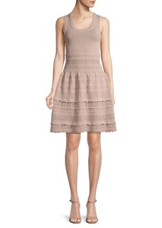 BCBG Max Azria Crochet Fit-&-Flare Dress