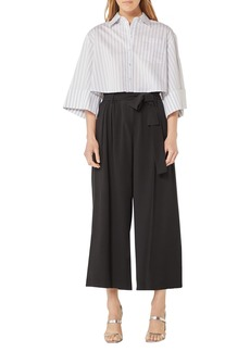 BCBG Max Azria Cropped Stripe Shirt