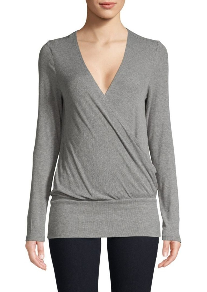 BCBG Max Azria Crossover V-Neck Top