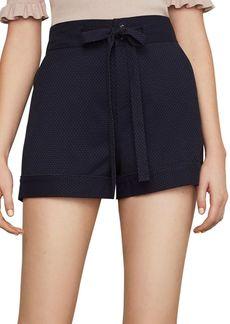 BCBG Max Azria Cuffed Tie-Front Shorts