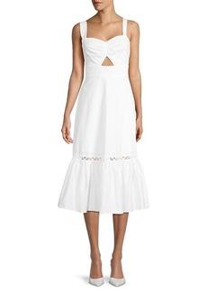 BCBG Max Azria Cutout Flounce Dress