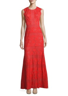 BCBG Max Azria Cutout Lace Gown
