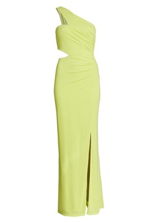 BCBG Max Azria Cutout One-Shoulder Gown