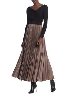 BCBG Max Azria Dallin Sunburst Pleated Maxi Skirt