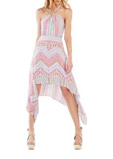 BCBG Max Azria Danela Halter-Neck Geometric-Print Dress