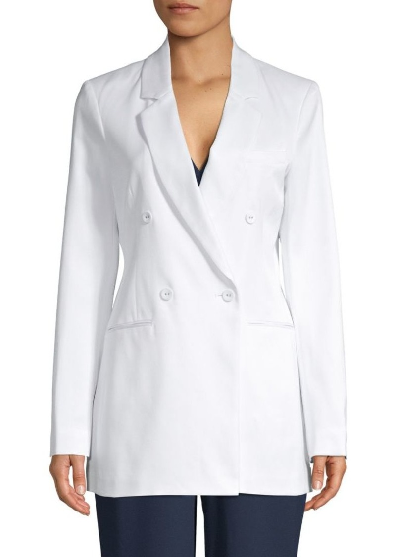 BCBG Max Azria Double-Breasted Notch Lapel Blazer