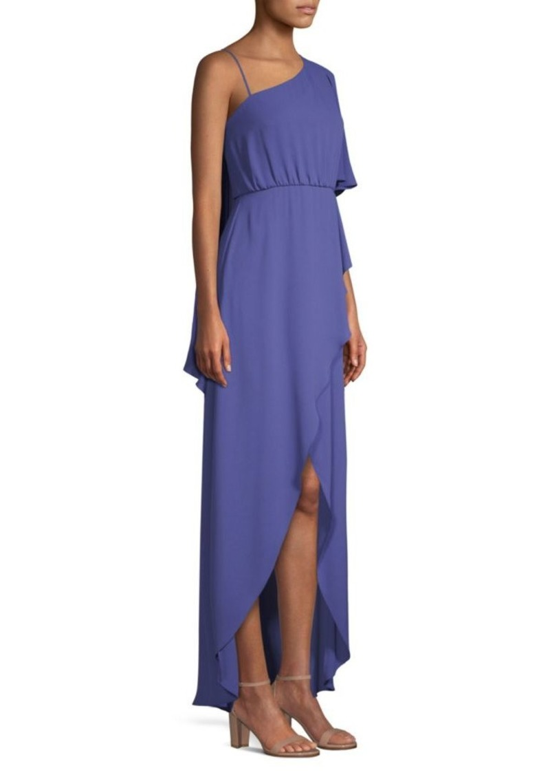 BCBG Max Azria Draped One-Shoulder High-Low Dress