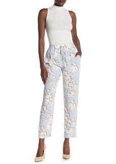 BCBG Max Azria Drawstring Floral Print Pants