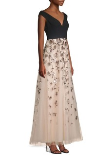 BCBG Max Azria Embellished Evening Gown