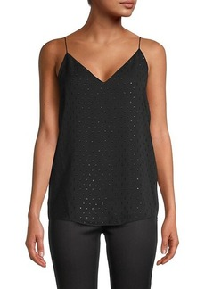 BCBG Max Azria Embellished V-Neck Top