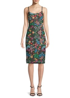 BCBG Max Azria Embroidered Bustier Sheath Dress