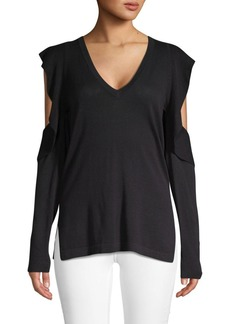 BCBG Max Azria Emile Cold-Shoulder Sweater