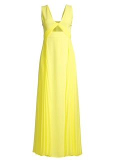 BCBG Max Azria Eve Contrast Pleated Gown