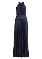 BCBG Max Azria Eve Pleated Halter Dress