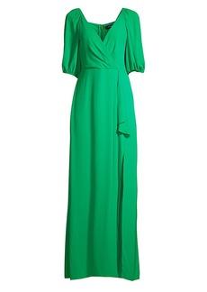 BCBG Max Azria Eve Puff-Sleeve Gown