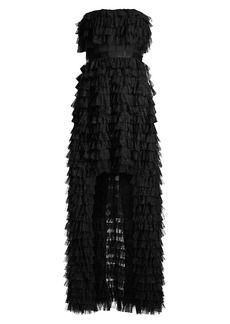 BCBG Max Azria Eve Ruffle Tulle Gown