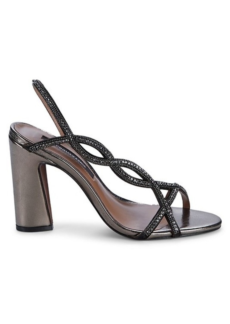 BCBG Max Azria Evie Embellished Metallic Leather Sandals