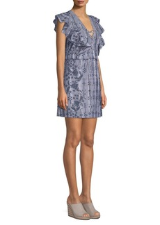 BCBG Max Azria Eyelet Mini Dress