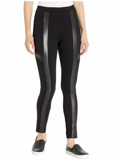 BCBG Max Azria Faux Leather and Ponte Leggings