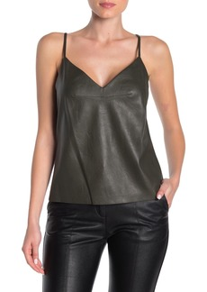 BCBG Max Azria Faux Leather Camisole Tank Top