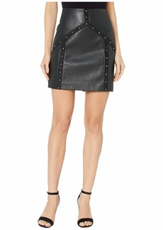 BCBG Max Azria Faux Leather Mini Skirt