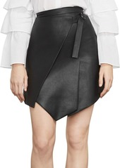 Bcbg max azria faux leather wrap front skirt abvaaf8fc14 a