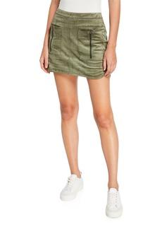 BCBG Max Azria Faux Suede Mini Skirt