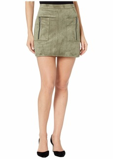 BCBG Max Azria Faux Suede Mini Skirt with Pockets