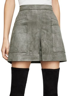 BCBG Max Azria Faux Suede Utility Mini Skirt