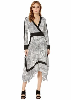 BCBG Max Azria Faux Wrap Handkerchief Dress