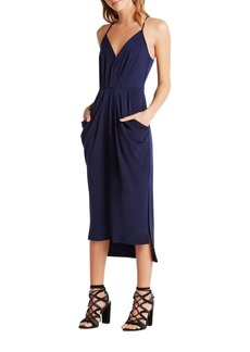 BCBG Max Azria Faux-Wrap Midi Dress