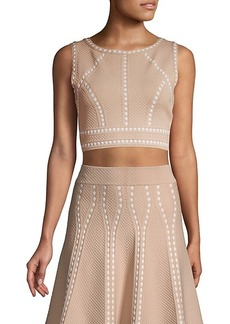 BCBG Max Azria Fenella Textured Crop Top
