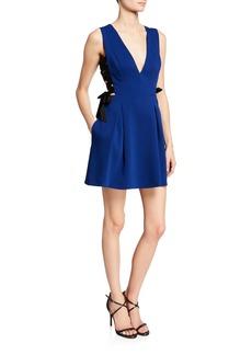 BCBG Max Azria Fit-and-Flare Sleeveless Dress