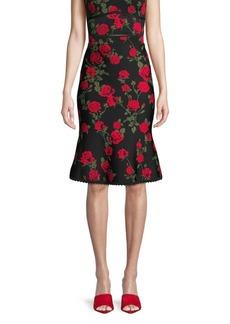 BCBG Max Azria Floral A-Line Skirt
