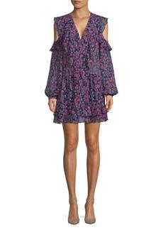 Floral Cold-Shoulder Dress