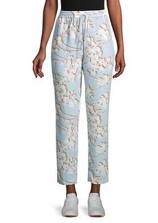 BCBG Max Azria Floral Drawstring Pants