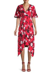BCBG Max Azria Floral Fit & Flare Dress