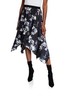 BCBG Max Azria Floral Handkerchief Skirt