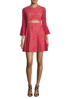BCBG Max Azria Floral Lace Dress