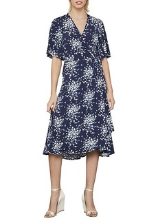 BCBG Max Azria Floral-Print Faux Wrap Dress