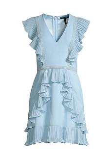 BCBG Max Azria Flounced Ruffle Cocktail Dress