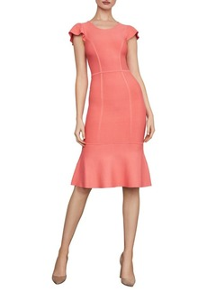 BCBG Max Azria Fluted Bodycon Dress