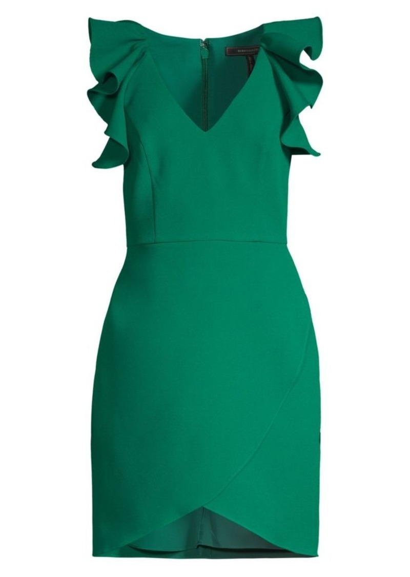 BCBG Max Azria Flutter-Sleeve Cocktail Dress