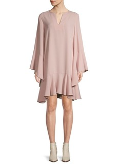 BCBG Max Azria Flutter-Sleeve Shift Dress