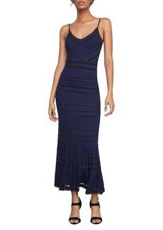 BCBG Max Azria Fringe-Trimmed Maxi Dress